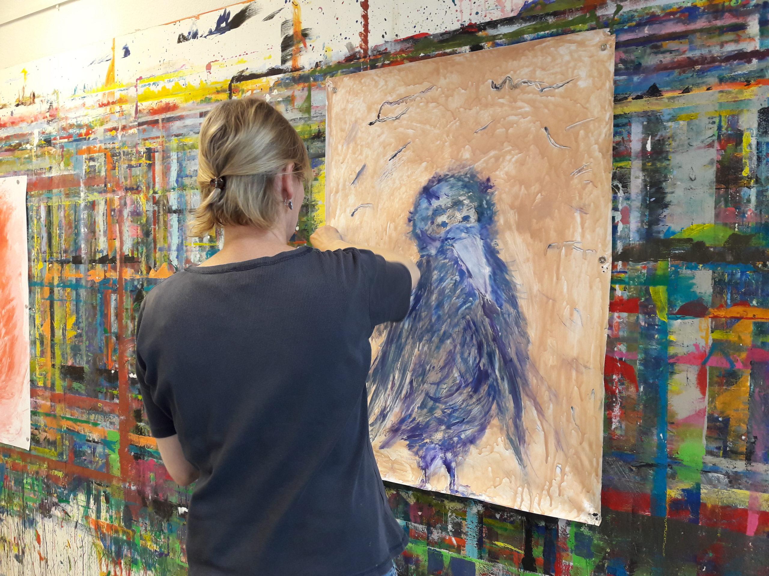 Malen in der Kreativwerkstatt