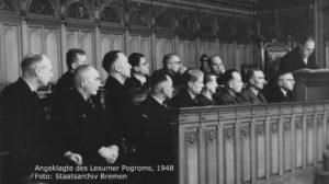 Angeklagte des Lesumer Pogroms, 1948