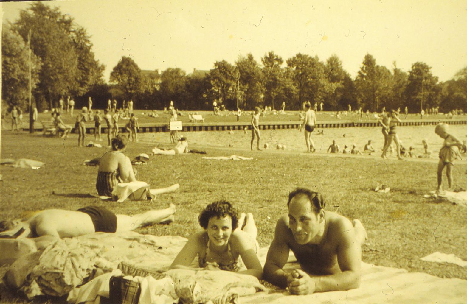 Waller Seebad in den 1950er Jahren