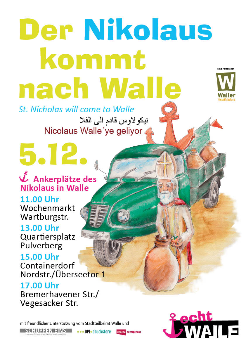 Flyer Nikolaus in Walle