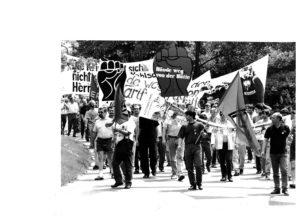 Eine der vielen Demonstrationen