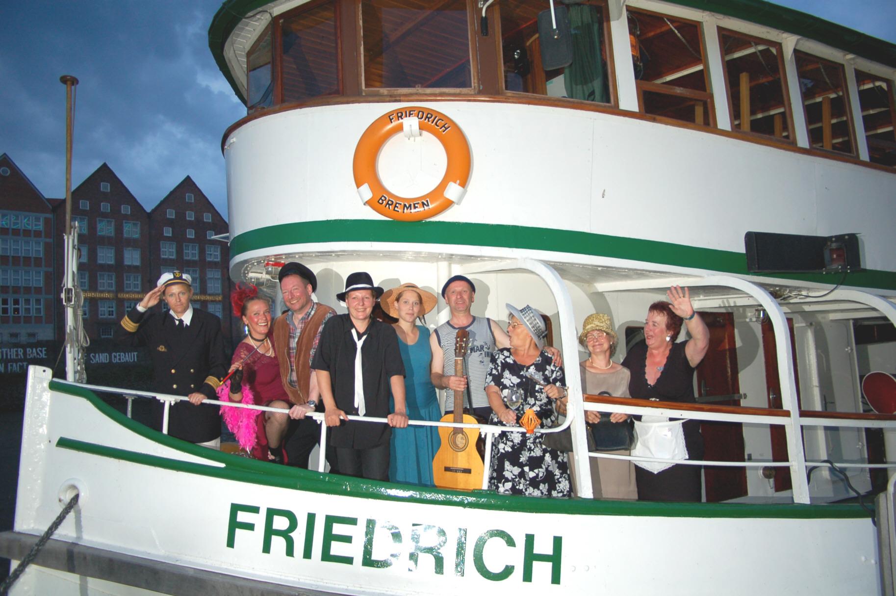 Schiffstour mit der MS Friedrich auf der Weser