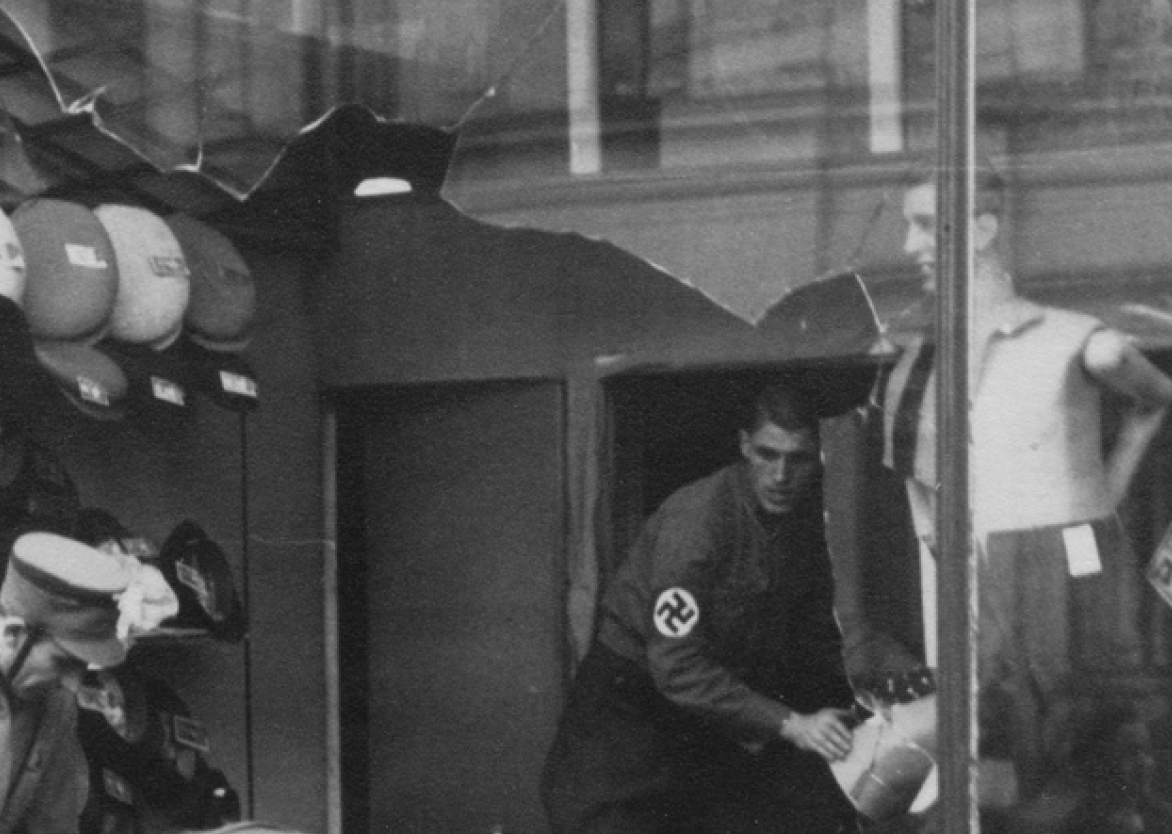 Jüdisches Modegeschäft in Hastedt, 1938
