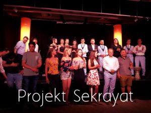 Gruppenfoto Projekt Sekrayat