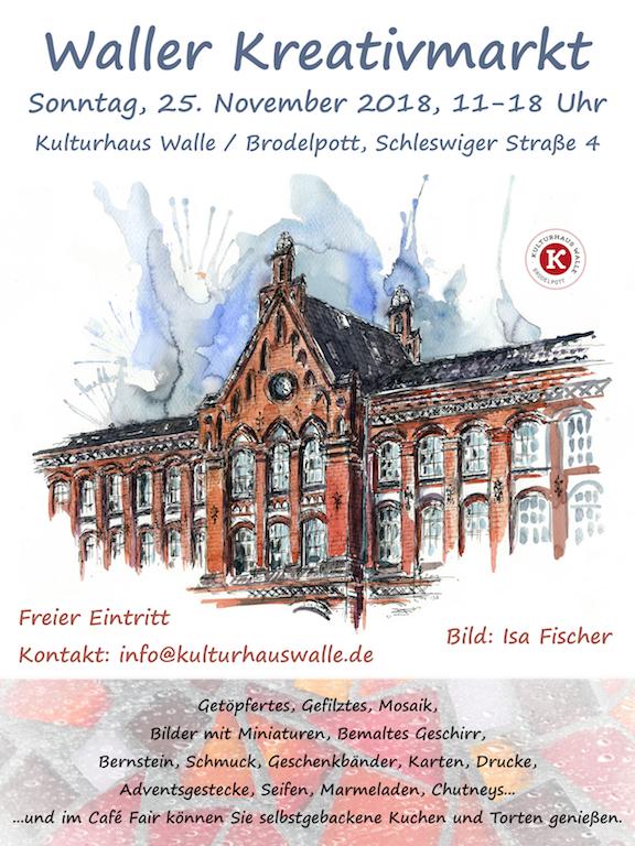 Kulturhaus Brodelpott Waller Kreativmarkt Poster