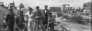 Geschichtskontor Baumstrasse Trümmerarbeiten