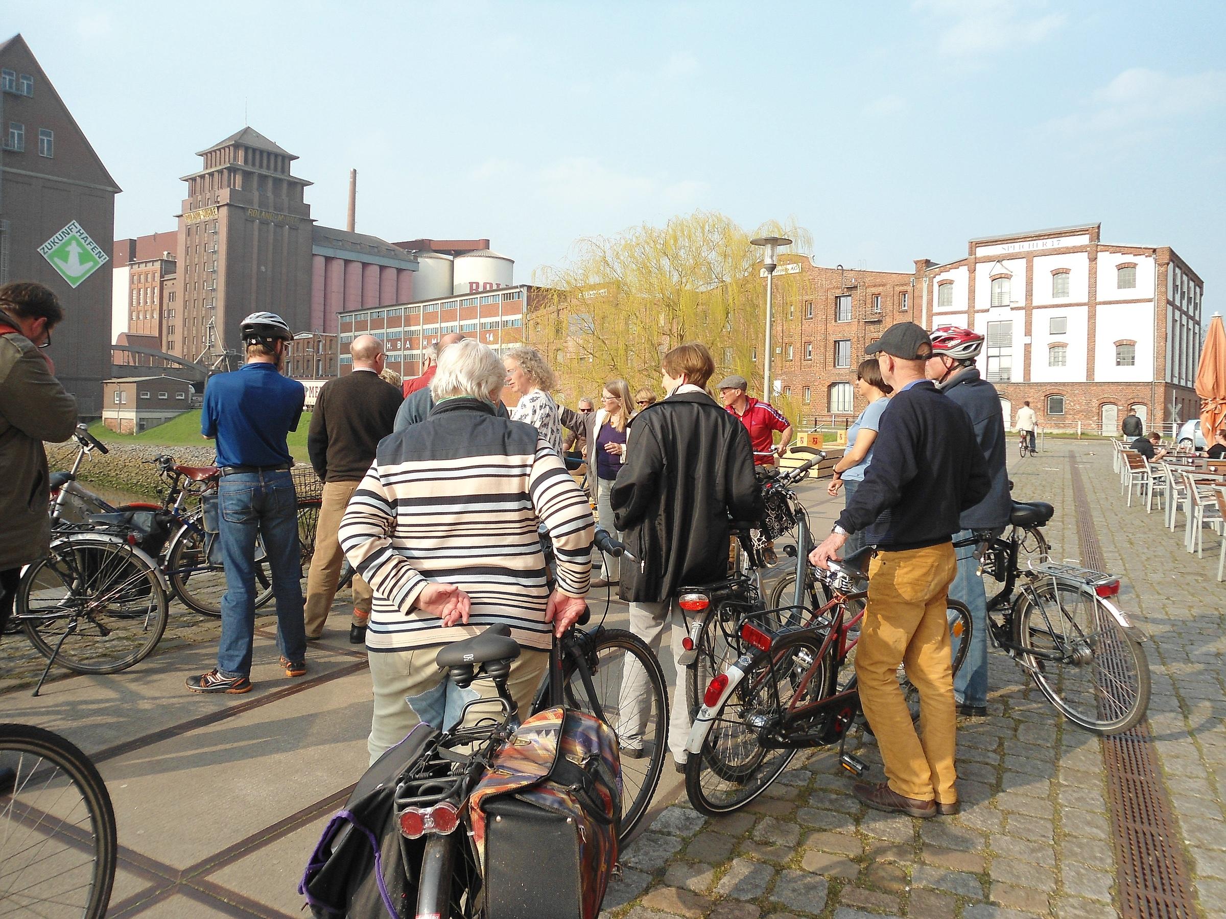 Radtour durch die Überseestadt