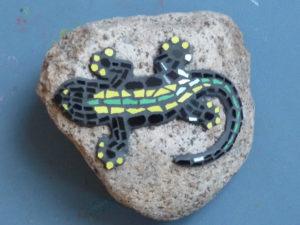 Salamander Motiv aus Mosaik