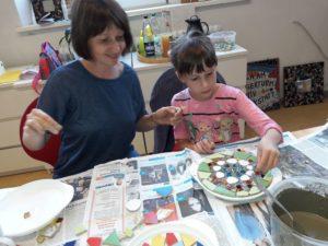 Workshop Mosaiktrittsteine für den Garten